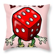 Bunco Throw Pillow by Kevin Middleton