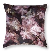 Burgandy Leaves After The Rain Throw Pillow by Anna Villarreal Garbis