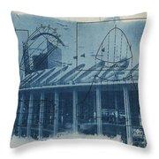 Busch Stadium Throw Pillow by Jane Linders