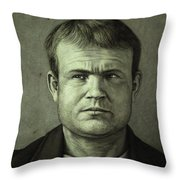 Butch Cassidy Throw Pillow by James W Johnson