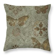 Butterfly Deco 2 Throw Pillow by JQ Licensing