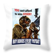 Buy Bonds Every Payday Throw Pillow by War Is Hell Store