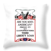 Buy U.s. Government Bonds Throw Pillow by War Is Hell Store