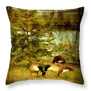 By The Little Tree - Lake Carasaljo Throw Pillow by Angie Tirado