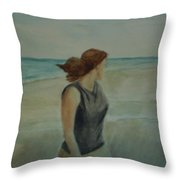 By The Sea Throw Pillow by Sheila Mashaw