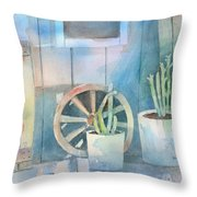 By The Side Of The Shed Throw Pillow by Arline Wagner