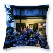 Cabbage Patch Bikers Bar Throw Pillow by Kristin Elmquist