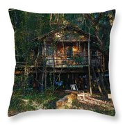 Cabin Fever Watercolor Throw Pillow by Joseph G Holland