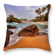 Cabo San Juan Throw Pillow by Skip Hunt