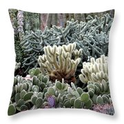 Cactus Field Throw Pillow by Rebecca Margraf