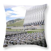 Cadets Recite The Oath Of Allegiance Throw Pillow by Stocktrek Images
