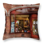 Cafe - Westfield Nj - Tutti Baci Cafe Throw Pillow by Mike Savad