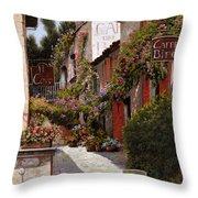 Cafe Bifo Throw Pillow by Guido Borelli