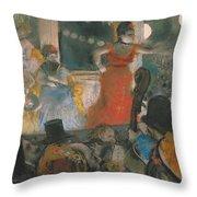 Cafe Concert At Les Ambassadeurs Throw Pillow by Edgar Degas