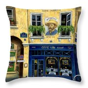 Cafe Van Gogh Throw Pillow by Marilyn Dunlap