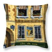 Cafe Van Gogh Paris Throw Pillow by Marilyn Dunlap