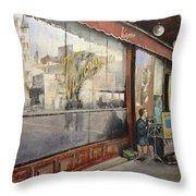 Cafe Victoria Throw Pillow by Tomas Castano