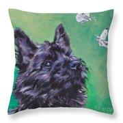 Cairn Terrier Throw Pillow by Lee Ann Shepard