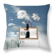 Califonia Dreaming Throw Pillow by John  Poon