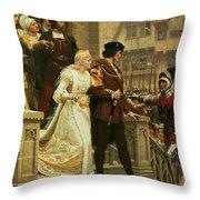 Call To Arms Throw Pillow by Edmund Blair Leighton