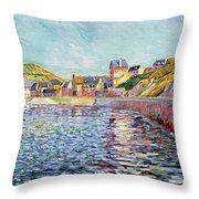 Calvados Throw Pillow by Paul Signac