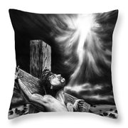 Calvary Throw Pillow by Peter Piatt