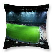 Camp Nou At Night Throw Pillow by Agusti Pardo Rossello