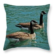 Canadian Geese Throw Pillow by Carol  Eliassen