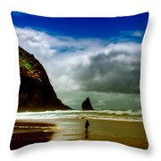 Cannon Beach At Dusk IIi Throw Pillow by David Patterson