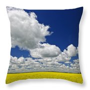 Canola Field Throw Pillow by Elena Elisseeva