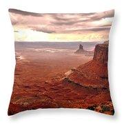 Canyonland Rain Throw Pillow by Robert Bales