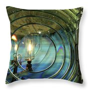 Cape Blanco Lighthouse Lens Throw Pillow by James Eddy