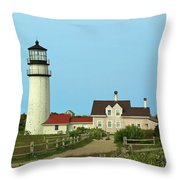 Cape Cod Highland Lighthouse Throw Pillow by Juergen Roth