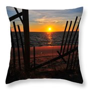 Cape Cod Sunset Throw Pillow by Catherine Reusch  Daley