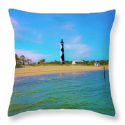 Cape Lookout 1 Throw Pillow by Betsy Knapp