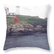 Cape Neddick Lighthouse Throw Pillow by Thomas R Fletcher