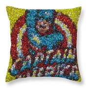 Captain America MM mosaic Throw Pillow by Paul Van Scott