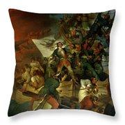 Capture of Azov Throw Pillow by Sir Robert Kerr Porter