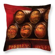 Car - Truck - Beer Truck Throw Pillow by Mike Savad