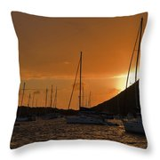 Caribbean Dawn Throw Pillow by Louise Heusinkveld