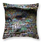 Carl Caddyshack Mosaic Throw Pillow by Paul Van Scott
