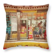 Carnival - The Candy Shack Throw Pillow by Mike Savad