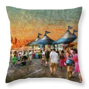 Carnival - Who Wants Gyros Throw Pillow by Mike Savad