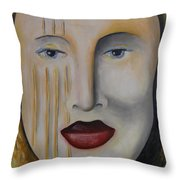 Carnival 1 Throw Pillow by Leah Saulnier The Painting Maniac