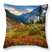 Cascade Pass Fall Throw Pillow by Inge Johnsson