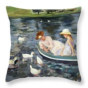 Cassatt: Summertime, 1894 Throw Pillow by Granger