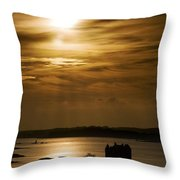 Castle Stalker At Sunset, Loch Laich Throw Pillow by John Short