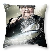 Catch Of The Day Throw Pillow by Jorgo Photography - Wall Art Gallery