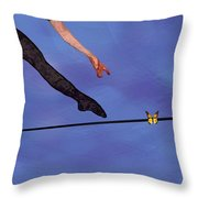 Catching Butterflies Throw Pillow by Steve Karol