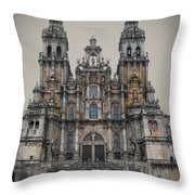 Cathedral of Santiago de Compostela Throw Pillow by Jasna Buncic
